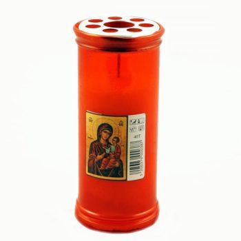 Κερί Αφιέρωσης σε Χρώμα Κόκκινο 4 Ημερών